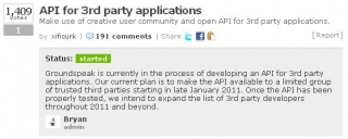 API for 3rd party applications